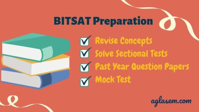 BITSAT 2019 Preparation Checklist