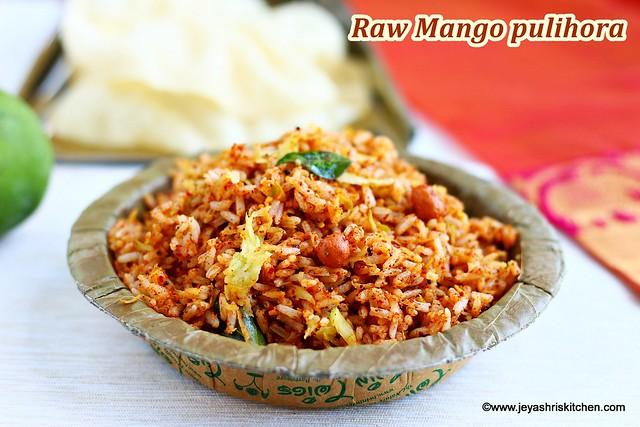 Raw mango pulihora
