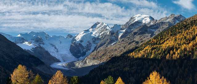 Piz Bernina and Piz Morteratsch