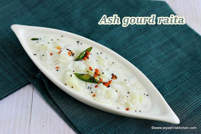 Ash gourd raita