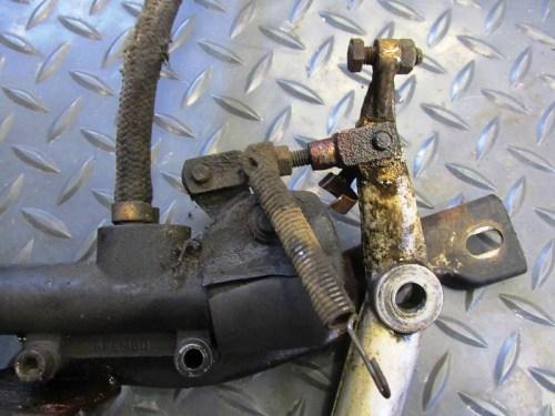 Rear Brake Pedal & Master Cylinder Linkage Detail-UGLY!!!