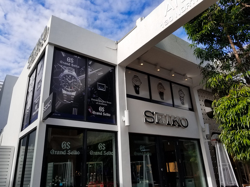 Window Displays at Seiko Boutique in Miami