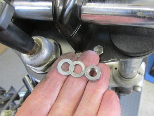 Handlebar Riser Rear Stud Hardware Detail