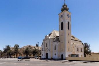 Sawkopmund heet zo omdat de rivier Swakop hier uitmondt. De Duitsers die de naam gaven bouwden ook deze Lutherse kerk.
