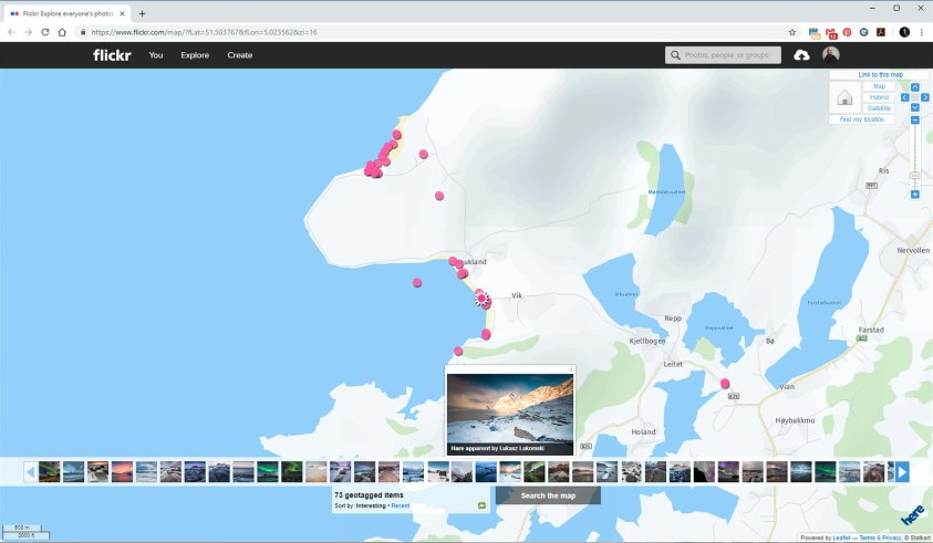 Bij foto communities kun je foto's zoeken. Bij Flick-r kun je zelfs de foto's per landkaart bekijken. Dit geeft veel mogelijkheden