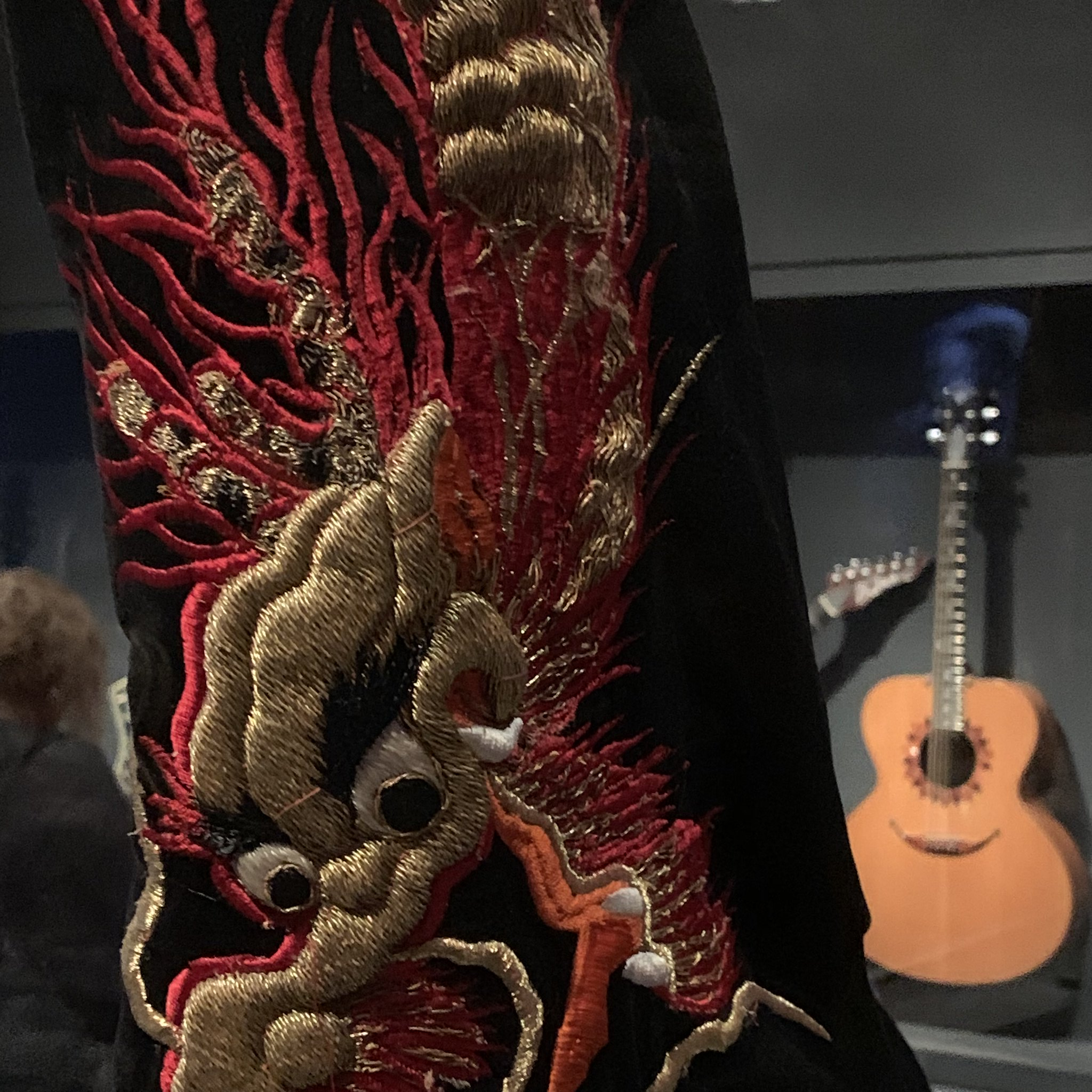 Detail on Jimmy Page Dragon Suit