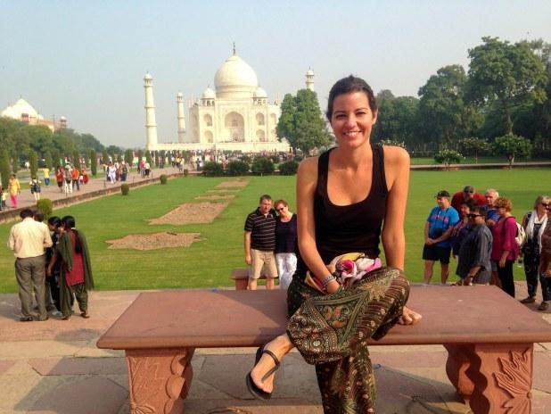 Taj Mahal al amanecer