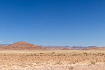 Het landschap vlak voordat we in Sesriem aankwamen.