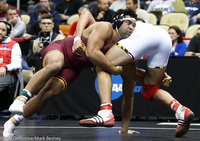 Cons. Semi - Gable Steveson (Minnesota) 35-2 won by decision over Youssif Hemida (Maryland) 21-9 (Dec 6-2) - 190323emk0029