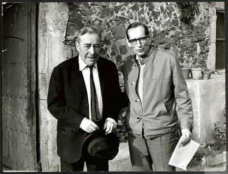 Josep Pla Miguel Delibes en Palafrugel en 1969 Foto Fundación Miguel Delibes Uti 465