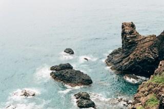Ocean view on Qimei island, Penghu, Taiwan