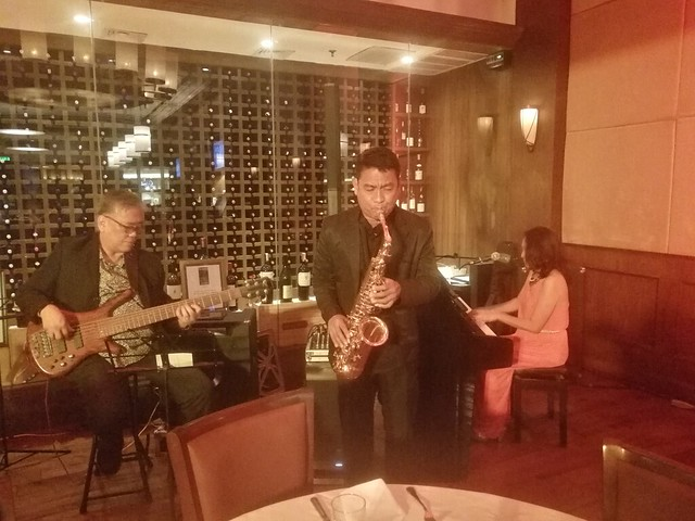 Jazz group at Wolfgang's Steakhouse