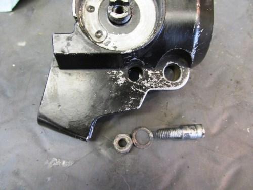 Left Handlebar Lever Pivot Pin Hardware Detail