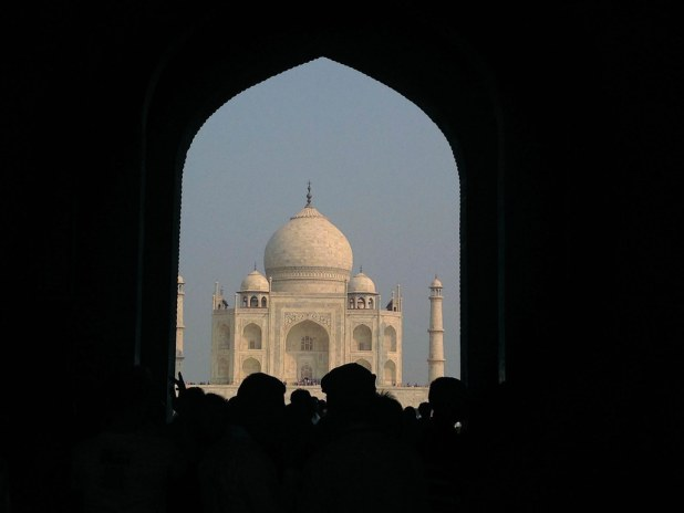 Silueta del Taj Mahal