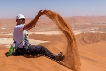 En bovendien kon je er lekker met zand spelen.
