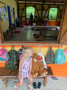 Isa at her school in the jungle #lassemillas