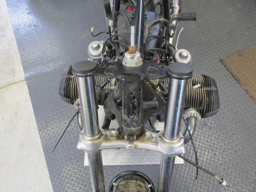 Handlebars & Instrument Bracket Removed