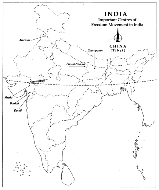Cl 10 History Map Work Chapter 3 Nationalism in India - Learn CBSE Kheda Political Map Of India on jamnagar india map, sanand india map, kutch india map, dandi india map, khasi hills india map, nadiad india map, anand india map, vadodara india map, rajkot india map, cambay india map, gujarat india map, naroda india map, raipur india map, porbandar india map, surat india map, ahmedabad india map,