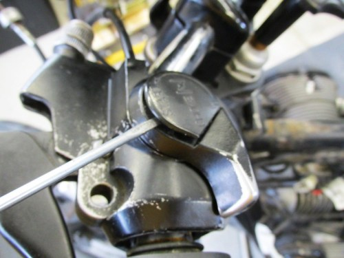 Remove Left Handlebar Choke Assembly Cover