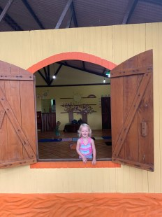 Isa at her school