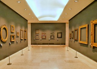 Frame Exhibit in the Louvre
