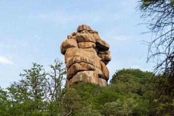 Ongeveer 2 miljard jaar geleden werd het graniet naar de oppervlakte geduwd en door de jaren heen erodeerde het gesteente.