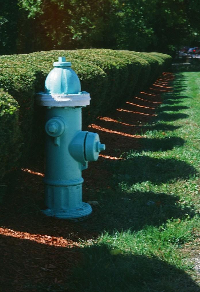 Hydrant with shadows