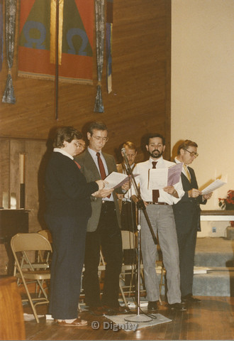 P103.016m.r.t Dignity San Diego, Christmas 1988: People singing in church
