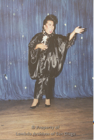P001.242m.r.t Through The Years Fundraiser: drag queen wearing a black outfit