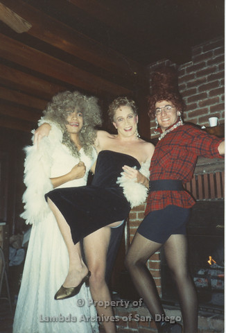 P001.222m.r.t Retreat 1991: 3 men in drag
