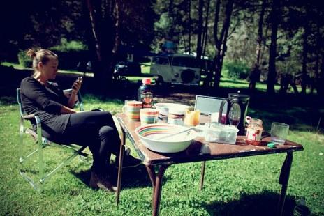 Lucnh at Camping San Nicolas
