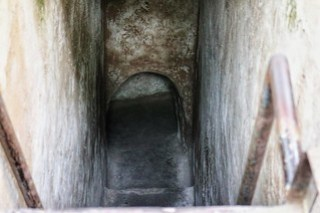 Steven went down this one! Cu Chi tunnels