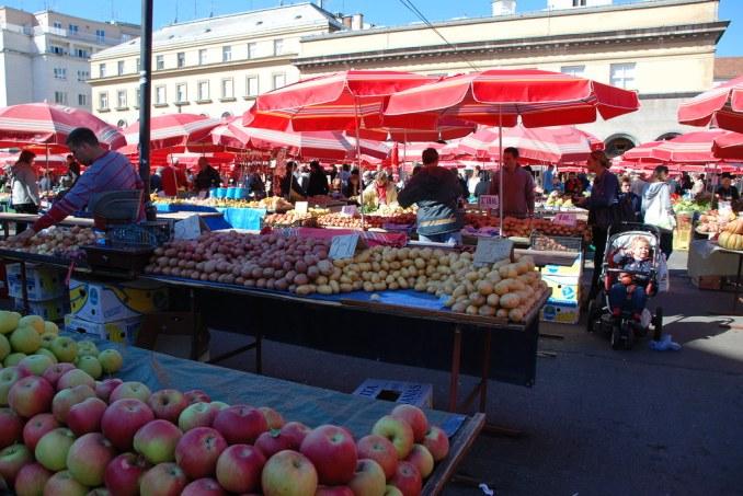 Dolac-Markt in Zagreb