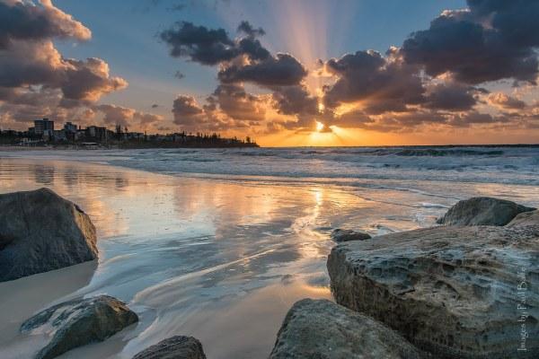 Kings Beach Sunrise Caloundra Sunshine Coast