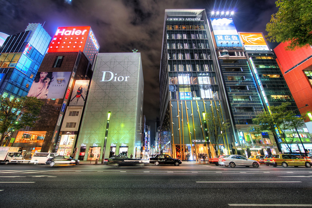Ginza Tokyo Japan This Is The Place To Burn Money In