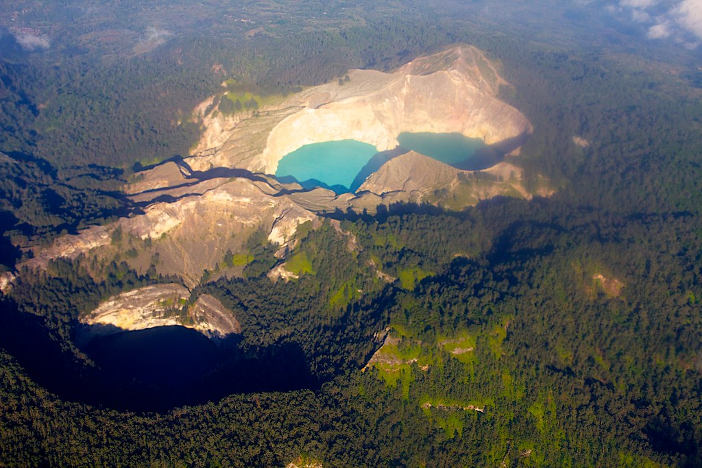 Kelimutu from the air