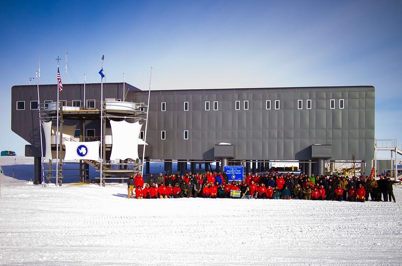 The Amundsen-Scott South Pole Station, Antarctica Summer 2012-13 Station Crew Photo