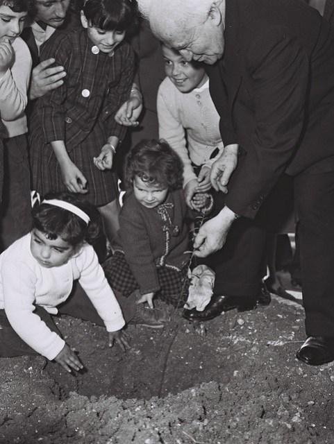 P.M. Ben-Gurion During Tu Bishvat