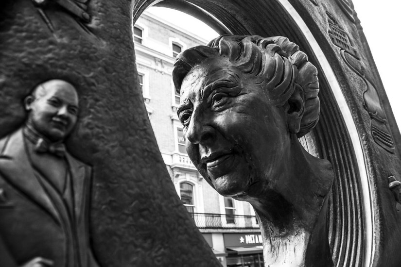 Agatha Christie in Metal   A monument to her writing. This s…   Flickr