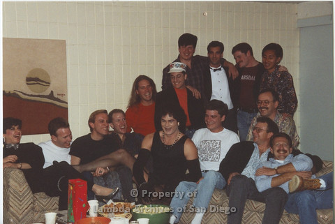 AIDS Foundation of San Diego: 1989 - Halloween Party Group Photo.