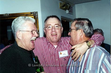 P040.025m.r.t SAGE General Meeting; three men, Justin Biermann in middle