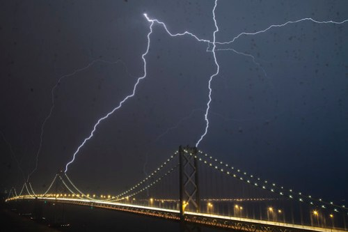 The (Other) Bay Bridge Lightning Strike.