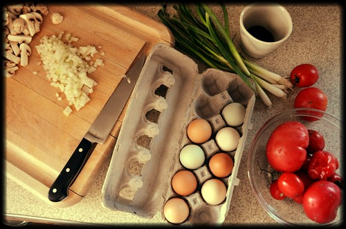 Eggs Baked in Spicy Tomato-Mushroom Sauce
