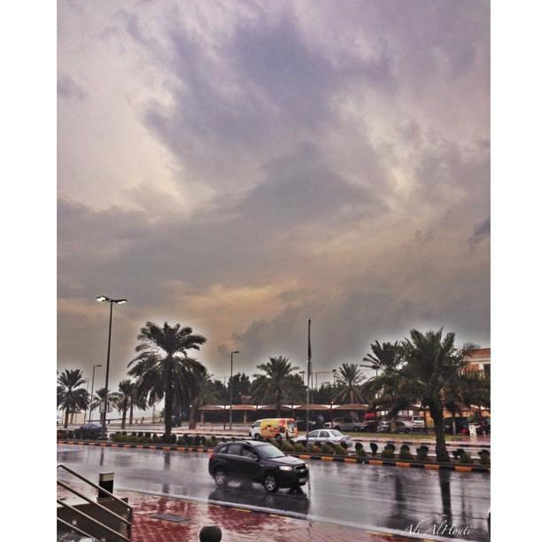 اللهم صيبا نافعا الحمدلله على نعمة المطر ادعوا وأخلصو