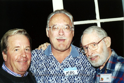 "P040.161m.r.t SAGE General Meeting; 3 men (from left to right: Uknown, Mac, Robert ""Bob"" Zulin)"