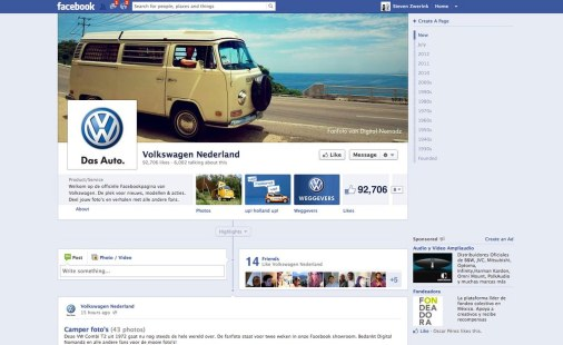 Nina featured on the Dutch VW page