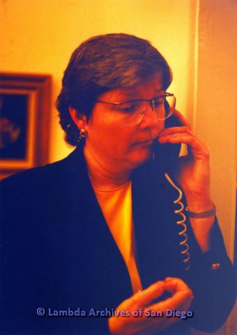 P151.052m.r.t Christine Kehoe profile talking on telephone