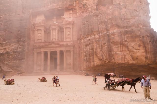 A little sandstorm near treasury