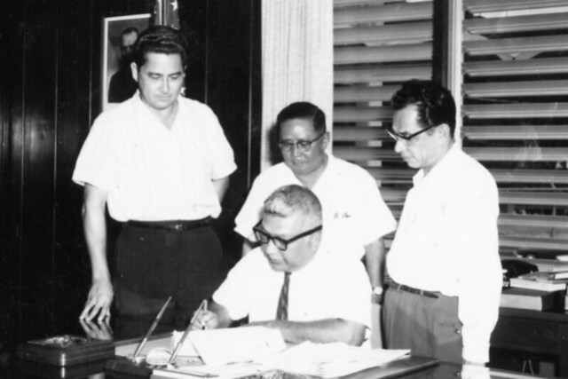 Governor Guerrero Signing Documents