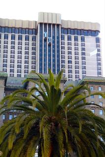 Glass elevators - hotel Westin St Francis